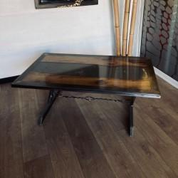 Table métal & résine